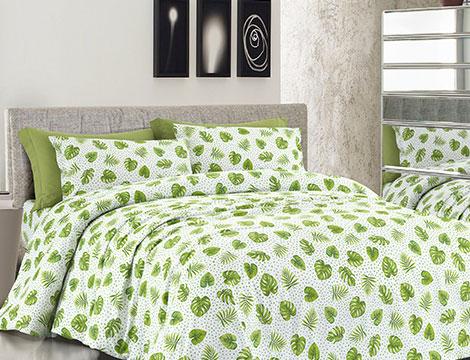 Biancheria da letto con foglie tropicali_N