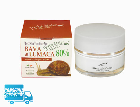 Crema viso antietà Herba Mater Pharma bava di lumaca