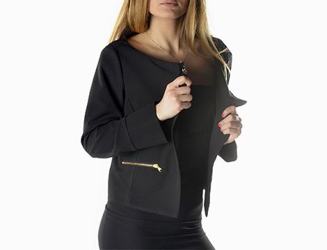 Blazer Sexy Woman fianco nero