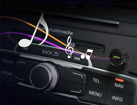 iReceiver bluetooth per automobile IdMix con USB e jack audio
