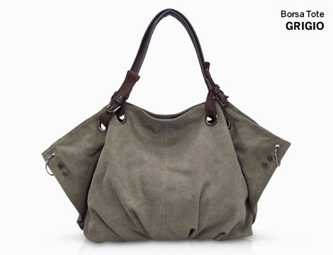 Borsa Tote in canvas_N