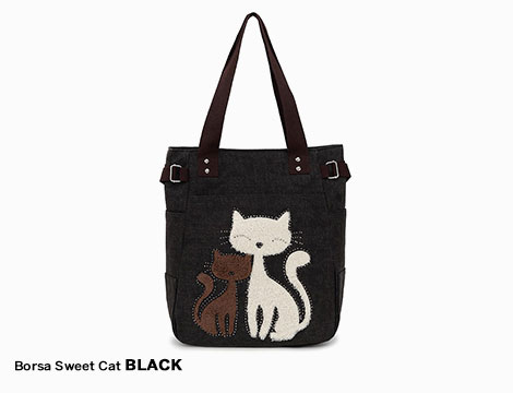 Borsa in canvas Sweet Cat_N