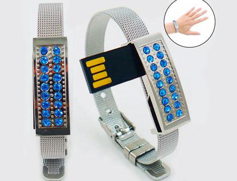 Bracciale con strass e chiavetta USB_N