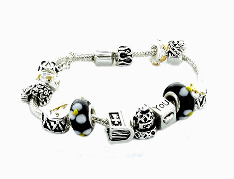 Braccialetti Beads neri_N