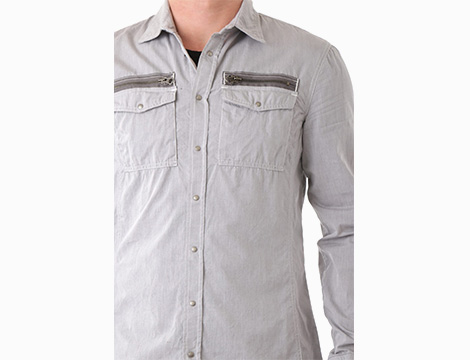 Camicia sportiva in cotone Absolut Joy dettaglio