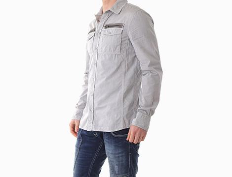 Camicia sportiva in cotone Absolut Joy fianco