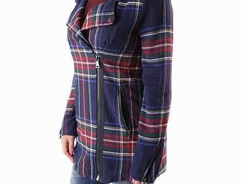 Cappotto scozzese Sexy Woman dettaglio