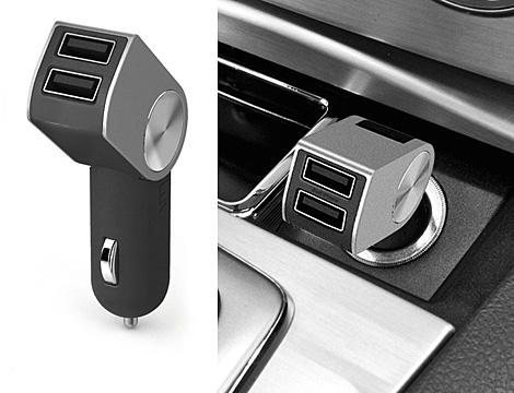 Iluv Dual Pin Caricabatteria Auto Doppia Porta USB Smartphone Ipad Ipod Iphone GRATIS