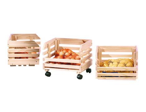 Carrelli portatutto in legno Pino massello