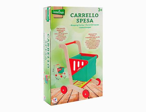 Carrello spesa in legno colorato 38193
