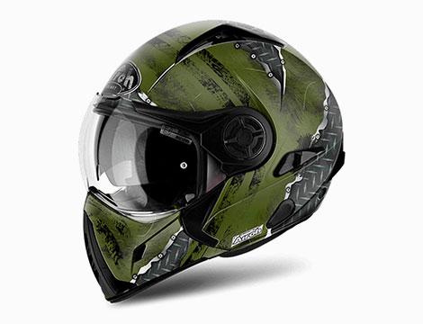 Casco moto Airoh J 106 verde