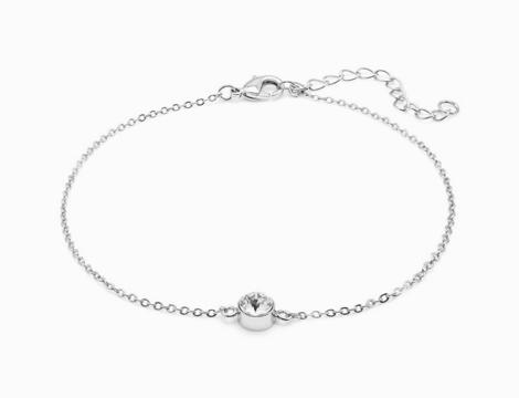 Cavigliera Silver Crystal