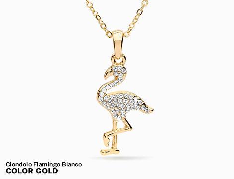 Ciondolo Flamingo e collana con cristalli Swarovski_N