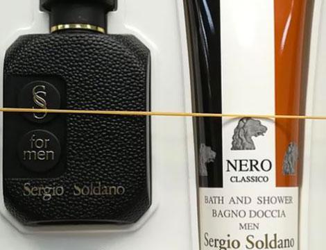 Kit uomo Sergio Soldano Nero profumo edt 25ml  bagno doccia 250ml