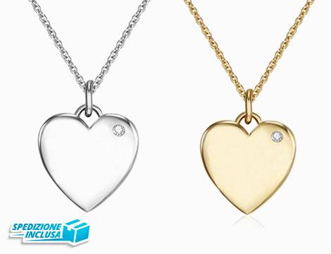 Collana cuore silver o gold_N