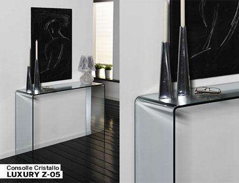 Consolle tavolino scrivania in cristallo_N