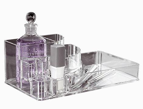 Cosmetic organizer trasparente