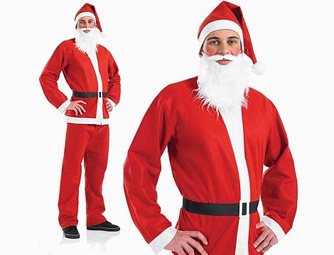 Costume Babbo Natale con accessori