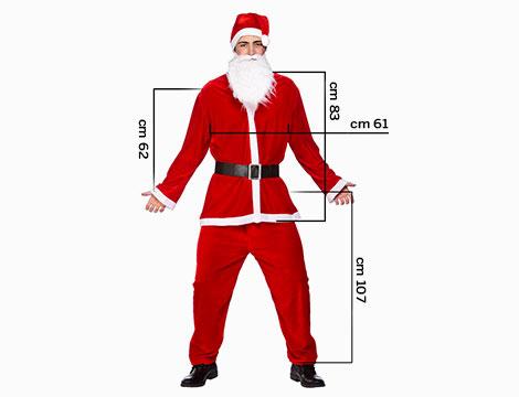 Costume completo di Babbo Natale_N