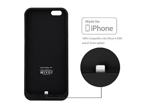 Cover Nera per iPhone 6 con batteria integrata supplementare da 3200mAh