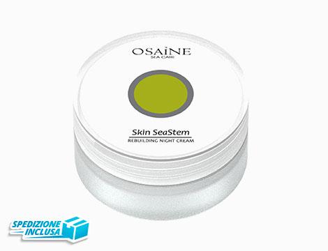Crema idratante notte Rebuilding con cellule staminali pelle secche Osaine Sea Care