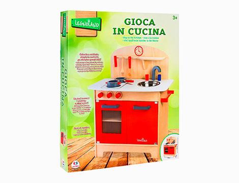 Cucina in legno con accessori 37783