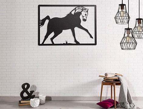 Decorazione metallo cavallo