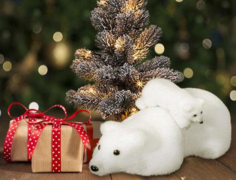 Decorazione natalizia orso polare_N