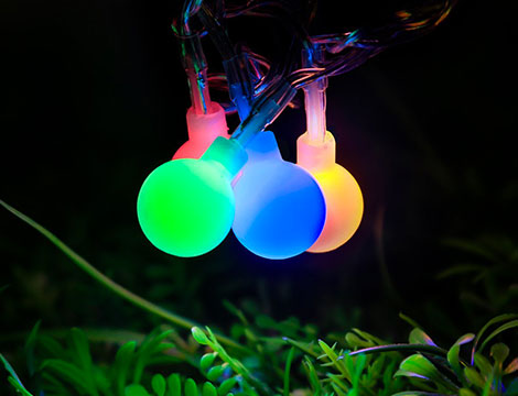 Fascia stringa Led con 100 bulbi colorati_N