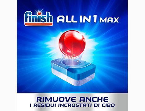 Fino a 3 confezione FINISH Tutto in Uno MAX 76 Regular_N