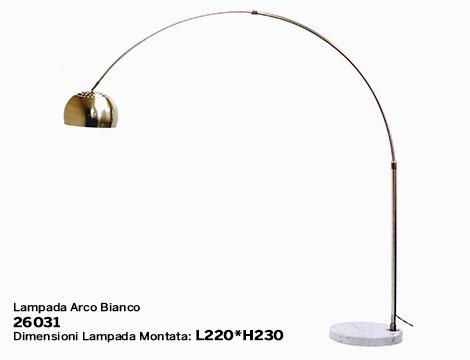 Lampada arco base rotonda_N