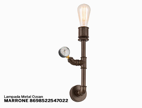 Lampada da parete Metal Ozcan vari modelli
