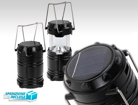 Lampada lanterna ricaricabile 6 Led