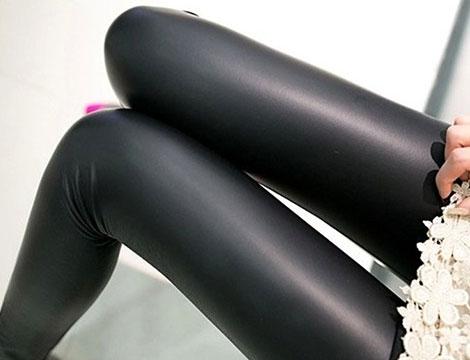 Leggings donna similpelle_N