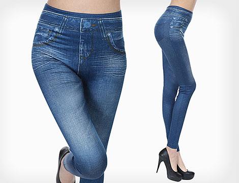 Leggings jeans snellenti blu