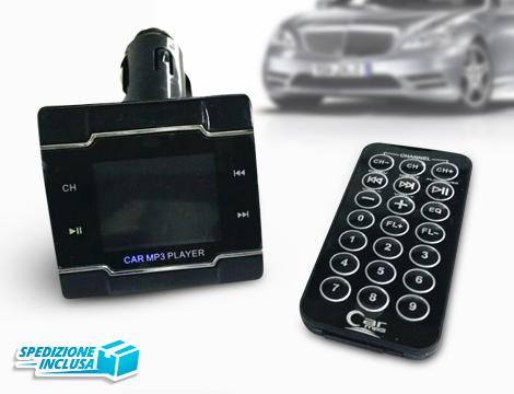 Lettore mp3 auto con telecomando