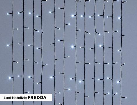 Luci natalizie a mantello 270 led da esterno vari colori