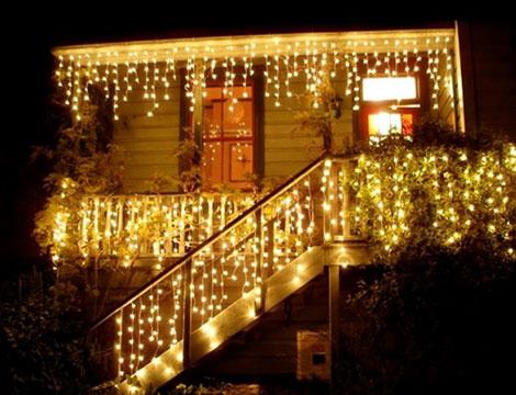 Luci natalizie a tenda da esterno