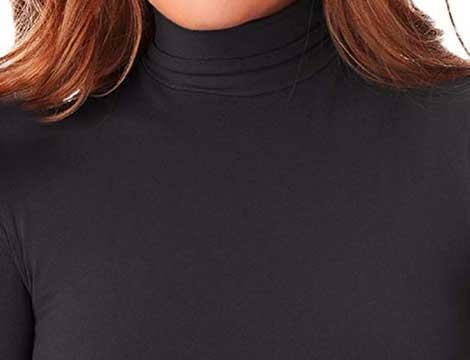 Lupetto termico invernale con interno felpato nero