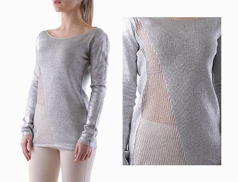 Maglia Sexy Woman grigio con dettaglio