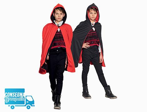 Mantello reversibile bambino Twilight rosso nero