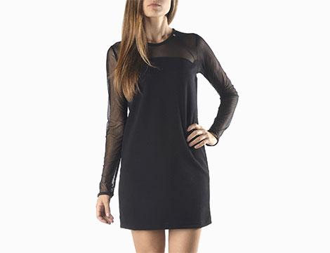 Vestito corto nero Sexy Woman