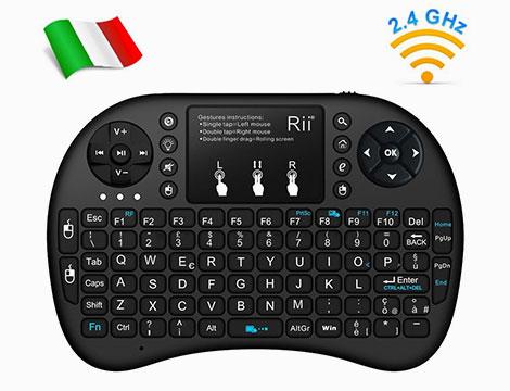 Mini tastiera retroilluminata con mouse touchpad
