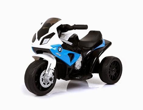 Moto elettrica per bambini blu