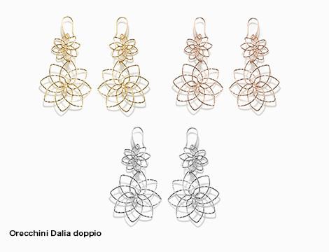 Orecchini doppio pendente DiLey Dalia