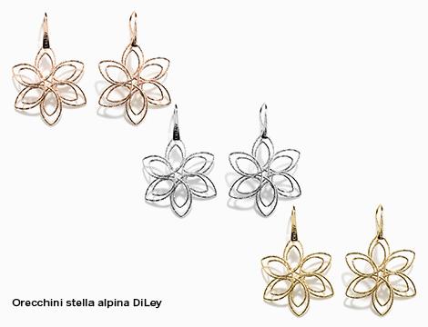 Orecchini pendente singolo DiLey artigianali stella