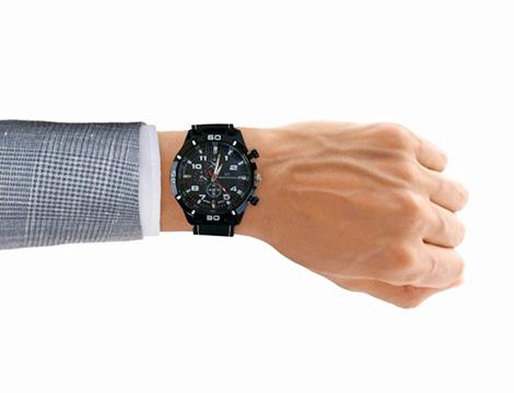 Orologio analogico da uomo bianco