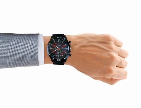 Orologio analogico da uomo rosso