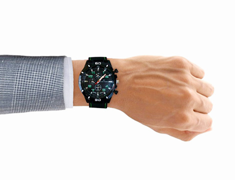 Orologio analogico da uomo verde