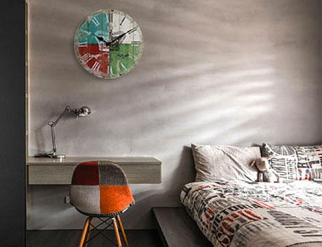 Orologio da parete in legno_N